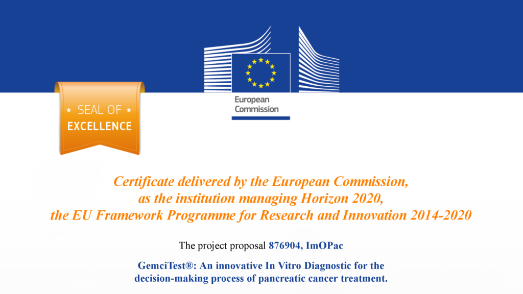 GemciTest a été gratifié d'un Seal of Excellence délivré par la commission européenne